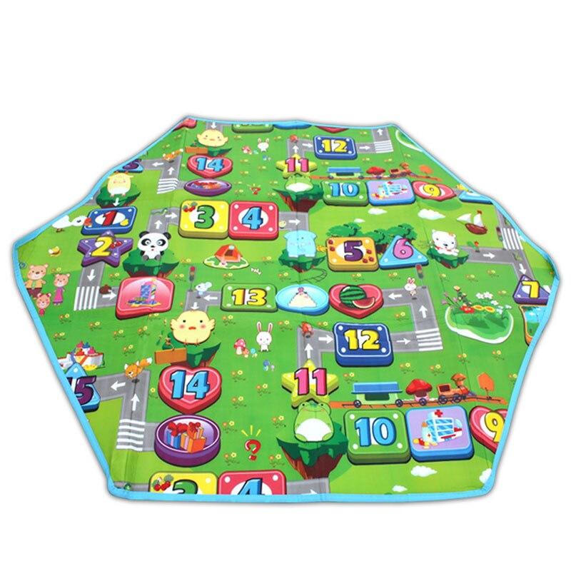 Hexagonal Princess KID'S Tent Supporting Double-Sided Hexagonal Crawl Pad 1.4X1.2 Foam Floor Pad Game Mat