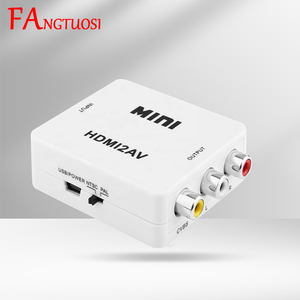 FANGTUOSI New HDMI to RCA AV/CVBS adapter HD 1080P video composite converter Box mini HDMI2AV support NTSC PAL Wholesale