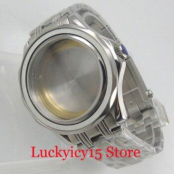 BLIGER Brand Watch Case 41mm Round Sapphire Glass + Watch Strap Fit ETA 2836 MIYOTA Movement