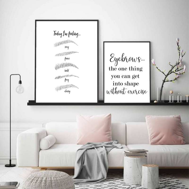 Inspirational Quote Print Marble Make up Poster Beauty Room Wall Art Funny Gift