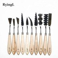 10 pcs/Set Mixed Stainless Steel Palette Scraper Set Paint Palette Knives Blade For Artist Oil Acrylic Painting Tools|paint spatula|paint palette knife|paint knife -