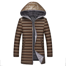 Men #8217 s down jacket high quality Men Winter Jacket Hooded Duck Down Jacket Male Windproof Parka Men Solid Fashion Overcoat coats cheap JUNGLE ZONE Thin (Summer) JUNGLE ZONE 028 REGULAR Casual zipper Full Denim NONE Pockets Zippers Polyester Long White duck down