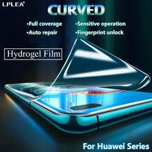 Изогнутая защита экрана Гидрогелевая защитная пленка для Huawei хуавей Nova 5t 7 SE полная защита для P40 Pro Plus плюс P10 Mate 10 Lite пленка не стекло телефон