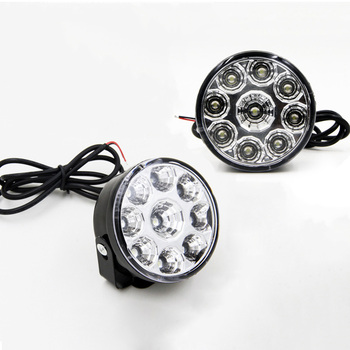 2Pcs Car Daytime Running Light Assembly White 12V Auto DRL Fog Lamp Driving Day Replace Styling Headlight