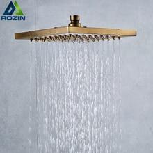 Античная латунь квадратная насадка для душа гироборд с колесами 8 дюймов Латунь Дождь Лейка для душа из АБС