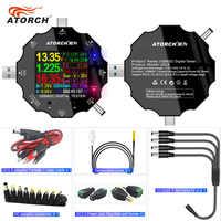 DC5.5 USB 3.0 Type-C 18 in 1 USB tester APP dc digital voltmeter power bank charger voltage current ammeter detector meter