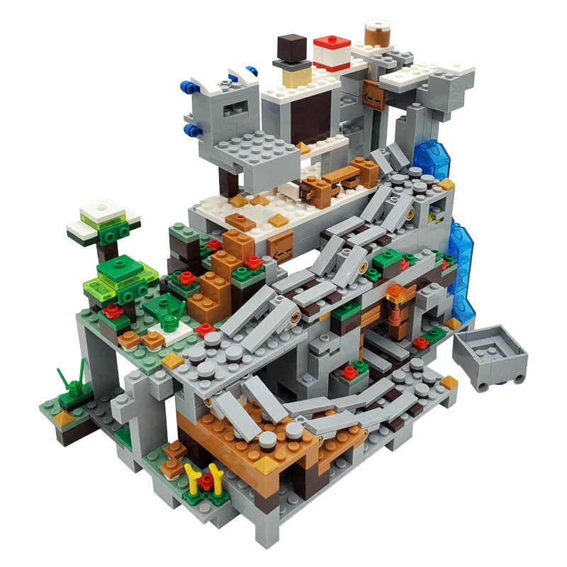 The Mountain Cave Mine Building Blocks Toys For Kids Highly Detailed Colorful Bricks Miniature Landscape