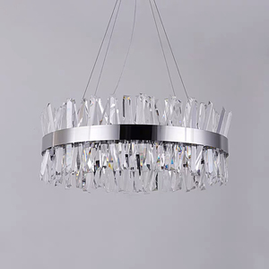 Image 2 - Modern Chandelier for Bedroom Round Gold/Chrome Crystal led Chandeliers for Living Room Dining Room Hall Hallway Home Decor Lamp