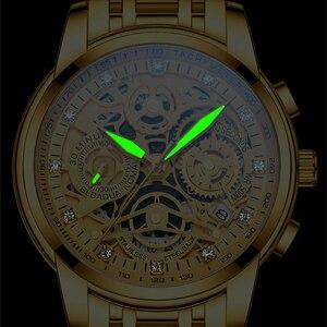 Image 2 - NEKTOM Wrist Watches Men Top Brand Luxury Golden Chronograph Mens Watch Gold Big Dial Man Wristwatch Relogio Masculino
