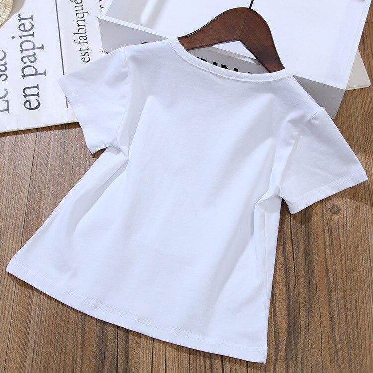 da crianca meninas roupas definir camiseta 05