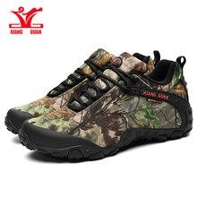 Men Hiking XIANG GUAN Boots Cow Leather Women Trekking Shoes Black Waterproof Sports Climbing Outdoor Hunting Sneaker