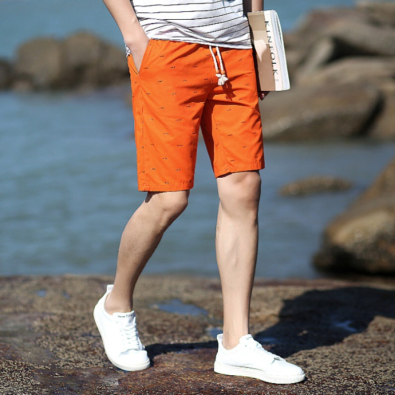 MEN'S Shorts Casual Pants Korean-style Slim Fit Summer Casual 5 Short In Pants Summer Loose Breeches Trend