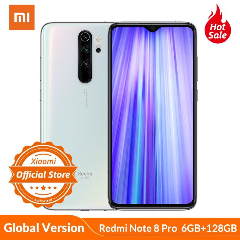 Global Version Xiaomi Redmi Note 8 Pro Smartphone 6GB 128GB  MTK Heilo G90T Mobile Phone 64MP Quad Camera NFC 4500mAh 18W Charge