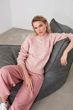 Trendyol feminino-camisola de malha celular lilás twoaw20fv0007