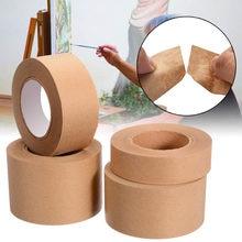 1 rolo 30m gomado papel de embalagem marrom empacotado adesivo mascaramento fita de papel para caixa de vedação de papel kraft fita de embalagem ferramentas
