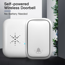 Wireless Self-powered Waterproof Doorbell EU/US Plug Plug Smart Security Outdoor Touch Welcome Bell 150M Remote receiver