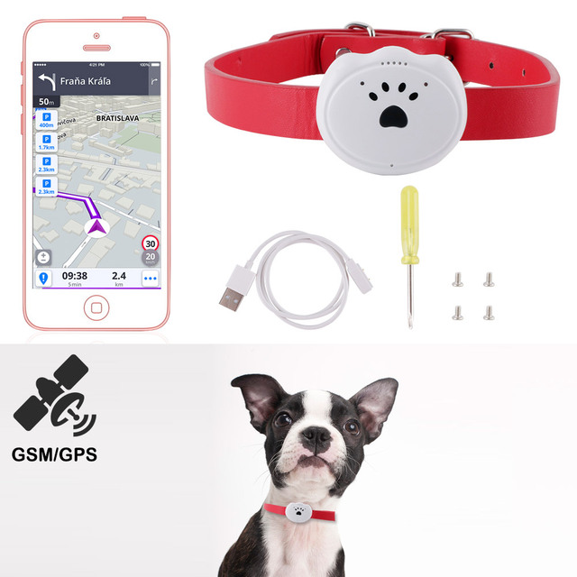 Mini Waterproof Pets Dogs GPS Tracker GSM WIFI LBS Locator Real Time Tracking Dog Collar Pet Cat Dog Anti-lost Geofence Device