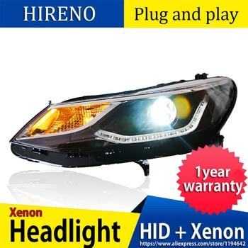 Car Style LED headlights for Chevrolet Cruze 2017-2018 for Cruze head lamp Lens Double Beam H7 HID Xenon bi xenon lens