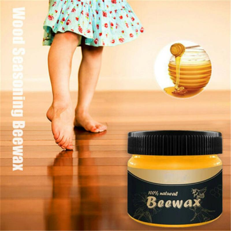 Organic Natural Pure Wax Home Wood Seasoning Beewax Complete Solution Furniture Care Wood Maintenance Beeswax Cleaning Polishing