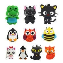 Cute Cartoon Animal penguin cat owl 64GB USB Flash Drive 4GB 8GB 16GB 32GB 64G 128GB Pendrive USB 2.0 Usb stick