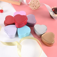 Hot Sale Heart Shaped Candy Sundries Storage Box Reusable Metal Plastic Small Beads Crafts Jewelry Storage Organizer Box