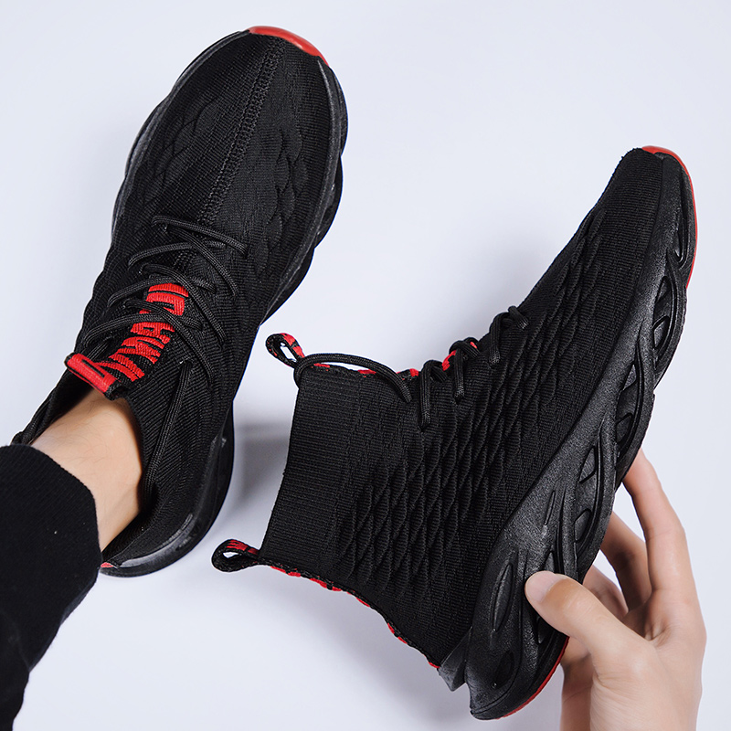 Image 5 - Mens Shoes Casual Breathable Fall Sneakers Men Krasovki Tenis Masculino High Top Zapatillas Light Sport Shoe Dropshiping 2019Mens Casual Shoes   -