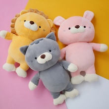 New Sweet Soft Animal Baby Appease Plush Toy Cartoon Lion&Rabbit&Cat Stuffed Doll Girl Birthday Christmas Gift Home Decoration
