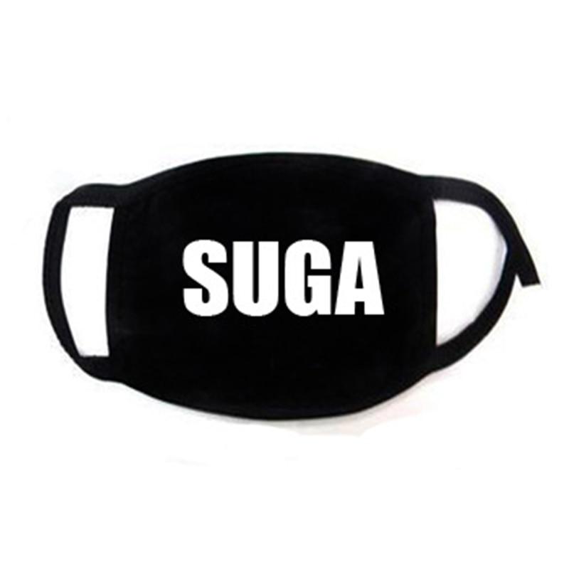 Korean Super Star KPOP Bangtan Boys JIMIN V RM JIN JUNGKOOK SUGA JHOPE The Same Fans ARMY Women Men Black Print Masks Dust Proof