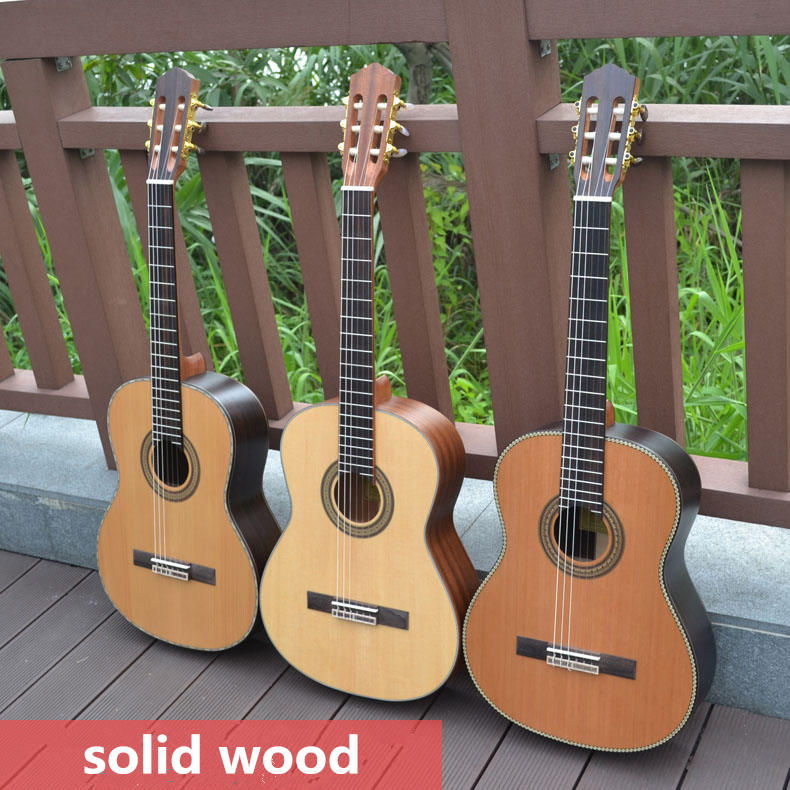 Classical Acoustic Guitar 36 39 Inches Top Solid Electric Highgloss 6 String Pick Up Spruce Cedar Walnut Rosewood Mahogany image