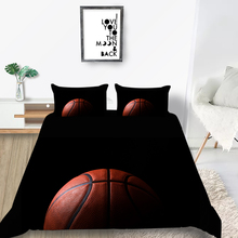 Basketball Bedding Set For Boys Fashionable 3D Duv