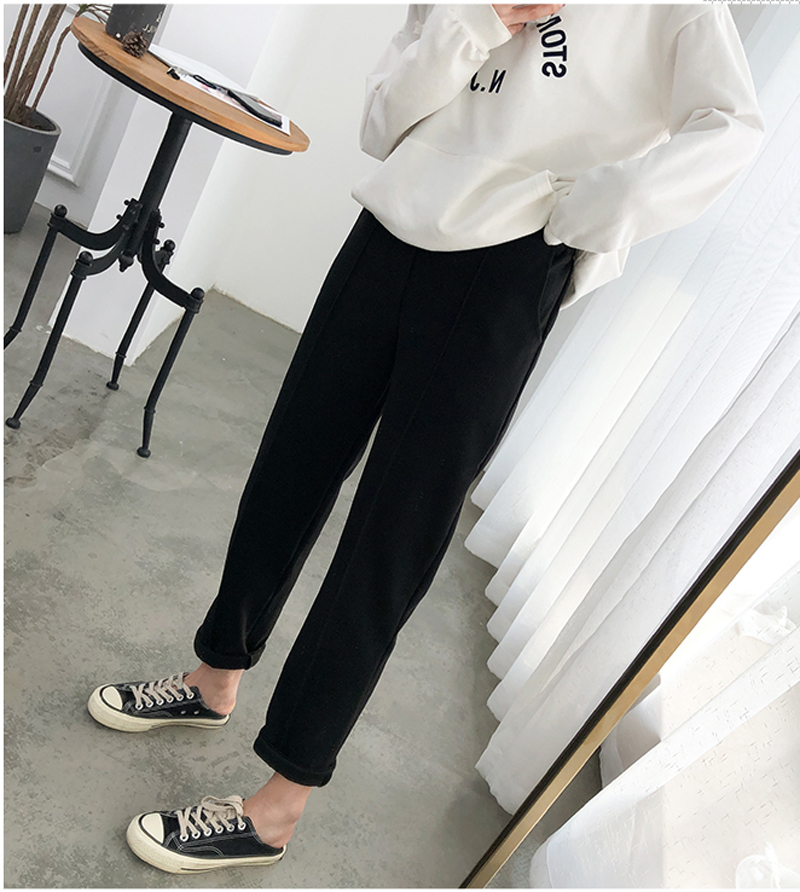 H23b6b45681bc488caf9ba258c1a742fa2 - Thicken Women Pencil Pants Autumn Winter Plus Size OL Style Wool Female Work Suit Pant Loose Female Trousers Capris 6648 50