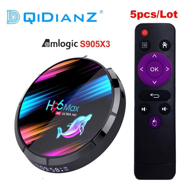 H96 max x3 decodificador de señal para TV, Android 9,0, decodificador de señal PX X96 AIR A95X F3 AIR HK1 Box, HD, 8K, H96MAX, S905X3