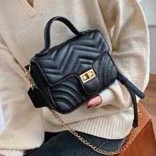 купить Chain Solid Color Pu Leather Crossbody Bags For Women 2019 Small Crossbody Messenger Bag Lady Totes Phone Handbags and Purses по цене 1093.55 рублей