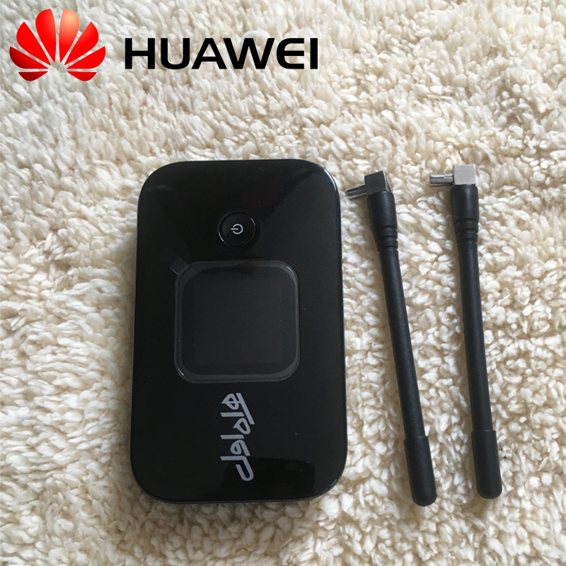 Huawei E5577s-321 E5577cs-321 4G MIFI Hotspot Router 150Mbps 3000mAh Battery Pocket 4G WIFI Modem 2pcs 4G Antennas(Unlocked)