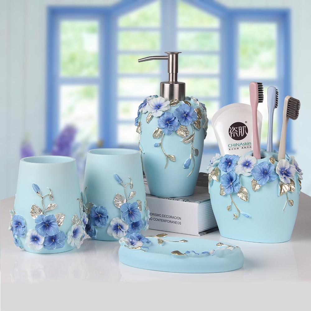 Bathroom Five-piece Bathroom Toiletries Wash Suit Wash Cup Three-color Gift Wedding Married Wedding Housewarming Gift Lw413925