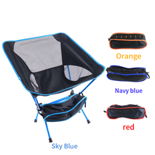 Outdoor Camping Portable Folding Fishing Chair Ultra Light Chair Oxford Cloth Folding Stool Picnic Beach Tool Chair Rest Chair