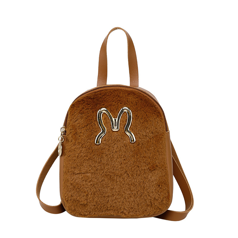 Women's Backpack 2019 Winter New Cute Travel Trend Fashion Lightweight Girls Backpack Fashion Rabbit Head Wild Mini Travel Bag