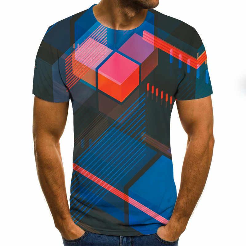 2020 新 3 次元渦 Tシャツメンズ夏の 3D プリントカジュアル 3D Tシャツトップス Tシャツ XXS-6XL