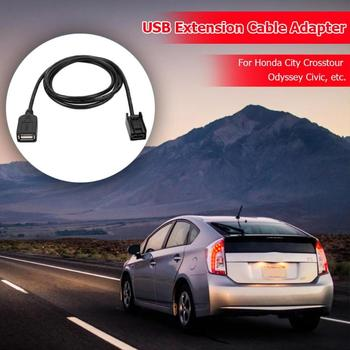 AUX USB Cable Adapter Female Port Extension Cord Excellent Durable Plastic and Metal Craft for Honda City Odyssey Civic image