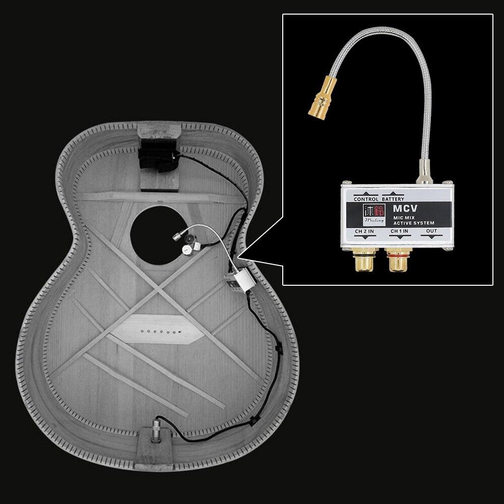 Microphone de guitare acoustique capteur de ramassage actif pour guitare classique Folk Guzheng boîte tambour