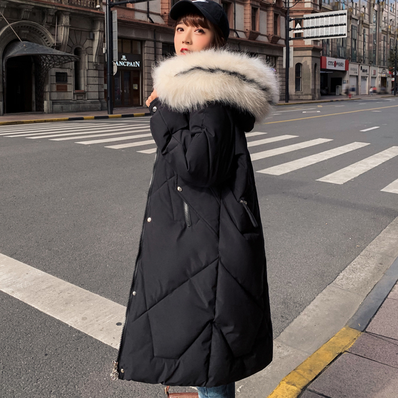 Fashion Winter Coat 2020 Women Jackets Thick Down Parkas Big Fur Hooded Cotton Long Coats Warm Windbreaker Female Outwear Coat