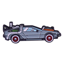 Delorean back to the future dello smalto pin freddo regalo per appassionato di cinema(China)