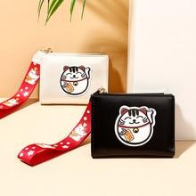 Вышитый кошелек Lucky women Cats тонкий аниме кошелек женский браслет кошелек на молнии портмоне H66