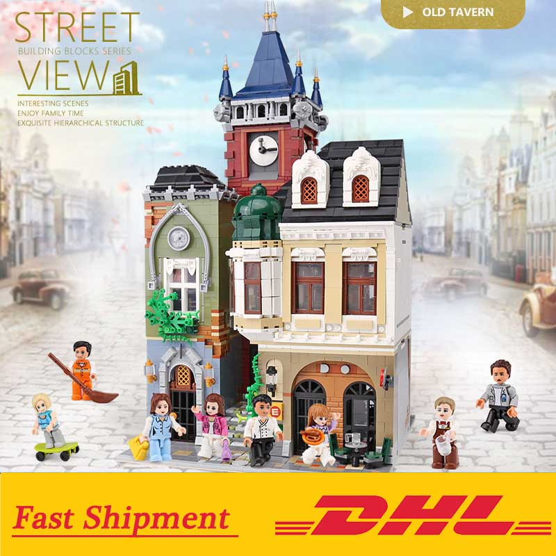 Creator Expert Twon Old Pub Bricks Set Building Bricks Toys Compatible with Legoings City Street View Set Kids Gift 1