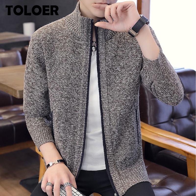 2020 Autumn Men''s Sweater Casual Long Sleeves Thickening Plus Size Velvet Warm Trend Shirt Zipper Cardigan Sweater jacket Coats