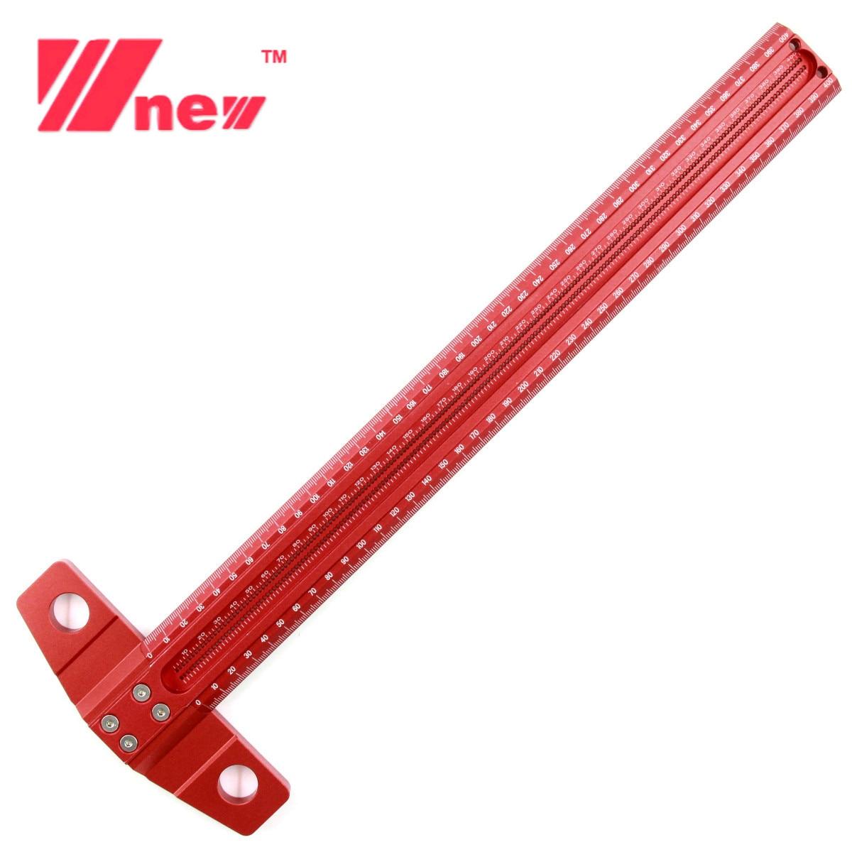 Obróbka drewna linia typu T Scriber Hole linijka krawiecka ze stopu aluminium Marking Gauge skrzyżowana linia Scriber Carpenter narzędzia pomiarowe