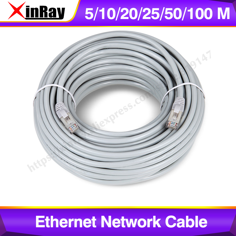 Xinnray Ethernet Network Cable RJ45 Lan Cable 5M-400M UTP Patch Lan CAT5 Cable For IP Camera NVR PC Router Laptop