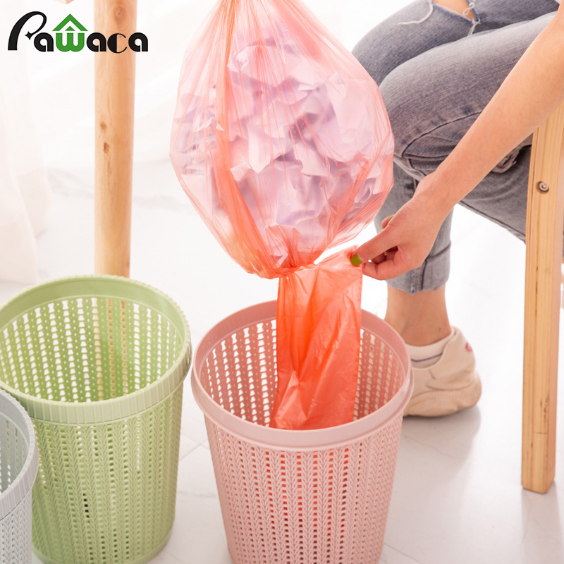 Waste Bins With Trash Bag Hollow Trash Can Creative Non removable Garbage Bags Waste Paper Basket Garbage Bin for Home Bedroom|Waste Bins| |  - title=