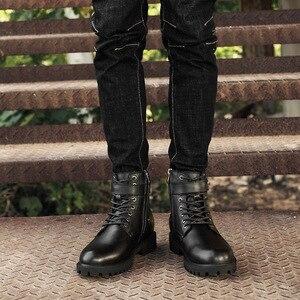 Image 5 - 39 46 men boots Non Slip 2019 Comfortable warm men winter shoes #NXZY1098