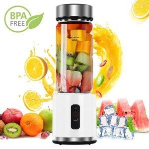 Image 1 - BPA ÜCRETSIZ USB Şarj Edilebilir smoothie blenderı Pil Kişisel 380ml Cam smoothie blenderı Sıkacağı Kolay Küçük Taşınabilir Blender